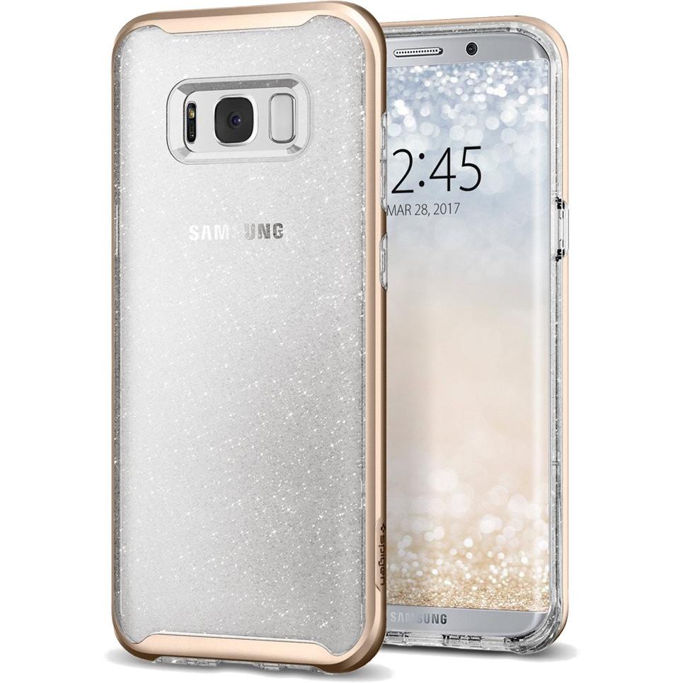 Чехол Spigen Neo Hybrid Crystal Glitter для Samsung Galaxy S8 Plus золотой кварц (571CS21658)Чехлы для Samsung Galaxy S8/S8 Plus<br>Ультратонкий и ультралегкий и кристально-прозрачный чехол Spigen Neo Hybrid Glitter создан специально для флагмана Samsung — Galaxy S8 Plus!<br><br>Цвет товара: Золотой<br>Материал: Термопластичный полиуретан, поликарбонат