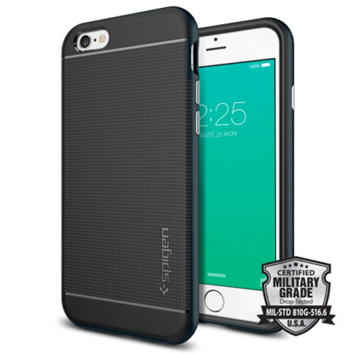 Чехол Spigen Neo Hybrid для iPhone 6 Plus/6s Plus (SGP11664)Чехлы для iPhone 6s PLUS<br>Чехол Spigen для iPhone 6S Plus Neo Hybrid металлический  (SGP11664)<br><br>Цвет товара: Чёрный<br>Материал: Металл, пластик, резина