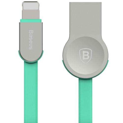 Кабель Baseus Zinc Alloy USB — Lightning (1 метр) бирюзовыйКабели Lightning<br>Baseus Zinc Alloy  — это кабель из TPE и цинкового сплава от Baseus, для заряда и синхронизации ваших портативных устройств с разъемом Lightning.<br><br>Цвет товара: Бирюзовый<br>Материал: Цинковый сплав, пластик