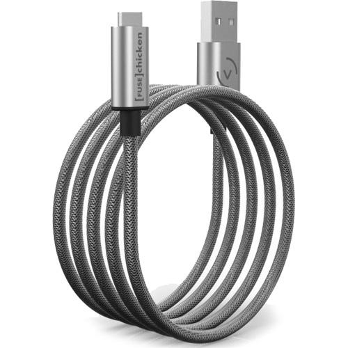 Кабель Fuse Chicken Armour Charge USB Type-C — USB (1 метр) в стальной оплётке (SAC1-100)Кабели USB Type-C<br>Кабель Fuse Chicken Armour Charge USB-C- 1м [SAC1-100]<br><br>Цвет: Серый<br>Материал: Металл (сталь, алюминий)