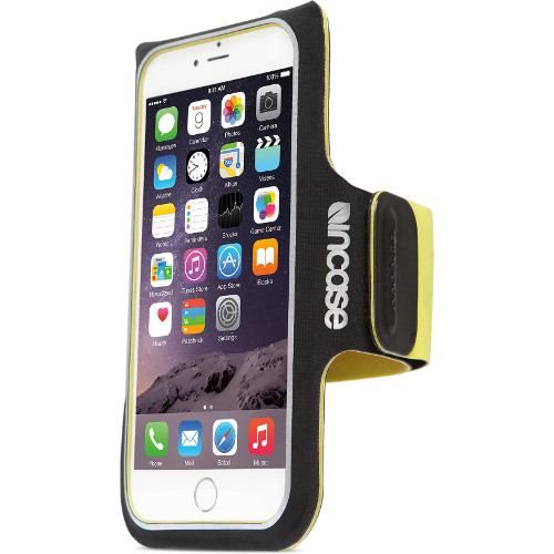 Чехол Incase Armband для iPhone 6/6sЧехлы для iPhone 6/6s<br>Спортивный чехол на руку incase Armband для iPhone 6 черный/зеленый<br><br>Материал: Неопрен, пластик