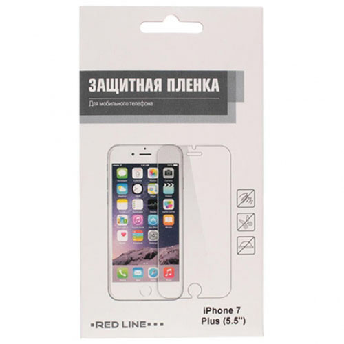 Защитная плёнка Red Line для iPhone 7 Plus (5,5) глянцеваяСтекла/Пленки на смартфоны<br>Защитная плёнка Red Line для iPhone 7 Plus из высокопрочного полимерного материала.<br><br>Цвет товара: Прозрачный<br>Материал: Пластик