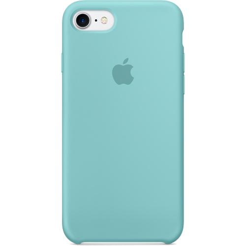 Силиконовый чехол Apple Case для iPhone 7 (Айфон 7) синее мореЧехлы для iPhone 7/7 Plus<br>Силиконовый чехол  Apple Case для iPhone 7 - Синее море<br><br>Цвет товара: Голубой<br>Материал: Силикон