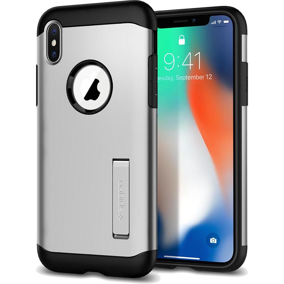 Чехол Spigen Case Slim Armor для iPhone X серебристый (057CS22546)Чехлы для iPhone X<br>Знаменитая серия тонких чехлов с высоким уровнем защиты Slim Armor теперь и для мощного iPhone X.<br><br>Цвет товара: Серебристый<br>Материал: Термопластичный полиуретан, поликарбонат