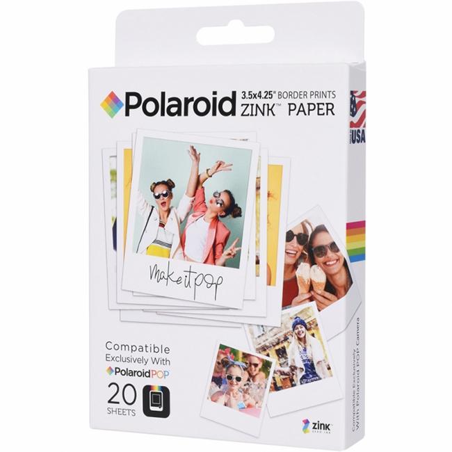Фотобумага для камер Polaroid POP (8,9 x 10,8 см) 20 шт.Портативные принтеры<br>Распечатывайте лучшие моменты жизни вместе с Polaroid!<br><br>Цвет: Белый<br>Материал: Бумага