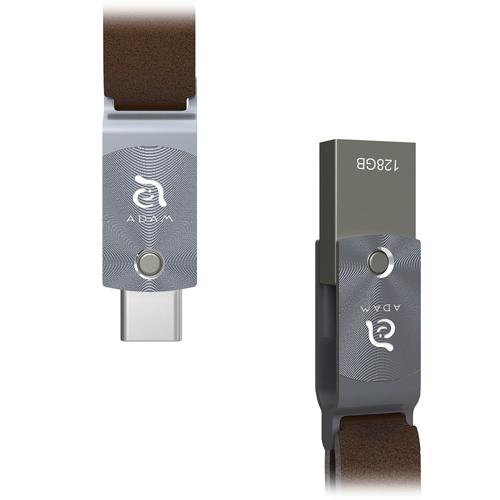 Флеш-накопитель ADAM elements ROMA 128GB USB Type-C OTG серыйФлешки<br>ADAM elements ROMA — компактный и стильный флеш-накопитель с двойным интерфейсом: USB Type-C и USB 3.1 Type-A<br><br>Цвет товара: Серый<br>Материал: Сплав цинка, алюминий, натуральная кожа<br>Модификация: 128 Гб