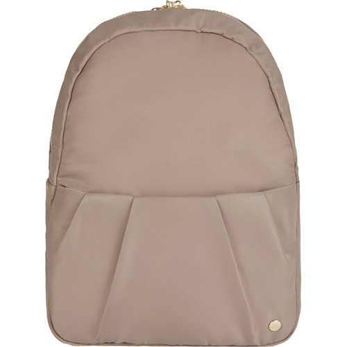 Рюкзак-трансформер Pacsafe Citysafe CX Anti-theft Convertible Backpack бежевый (Blush Tan)Сумки и аксессуары для путешествий<br>Pacsafe Citysafe CX Anti-theft Convertible — стильный повседневный рюкзак, который в считанные секунды трансформируется в элегантную сумку.<br><br>Цвет товара: Бежевый<br>Материал: 100D нейлон, 75D полиэстер, нержавеющая сталь