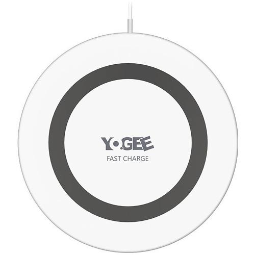 Беспроводное зарядное устройство Yogee Fast Charge Ultra-Thin белое