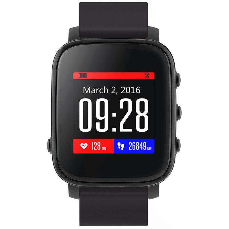Умные часы SMA Time чёрные с чёрным ремешкомУмные часы<br>SMA Time смарт-часы - черный/черный<br><br>Цвет товара: Чёрный<br>Материал: Алюминий