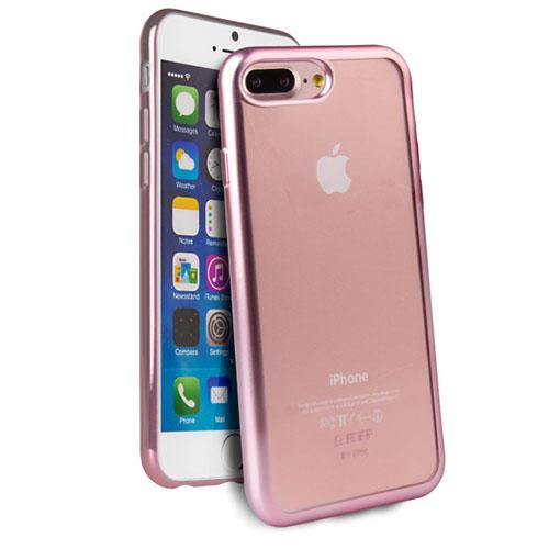 Чехол Uniq Glacier Frost для iPhone 7 Plus (Айфон 7 Плюс) розовое золотоЧехлы для iPhone 7 Plus<br>Чехол Uniq для iPhone 7 Plus Glacier Frost Rose Gold<br><br>Цвет товара: Розовое золото<br>Материал: Поликарбонат, полиуретан