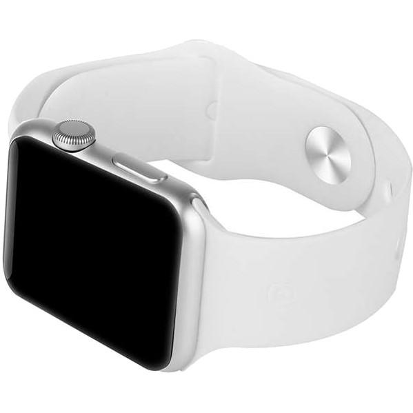 Ремешок FASHION для Apple Watch 42 мм белыйРемешки для Apple Watch<br>Дополнительный ремешок имеет стандартное магнитное крепление и легко устанавливается на корпус часов Apple Watch с размером экрана 42 мм.<br><br>Цвет: Белый<br>Материал: Силикон