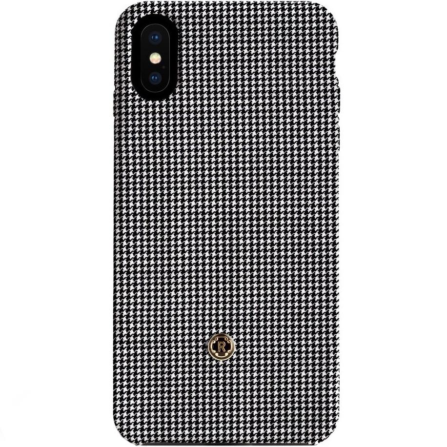 Чехол Revested для iPhone X Timeless Hard Houndstooth серыйЧехлы для iPhone X<br>Revested Timeless Hard — серия премиум-чехлов для iPhone X от лучших мастеров из Италии.<br><br>Цвет товара: Серый<br>Материал: Шерсть, поликарбонат
