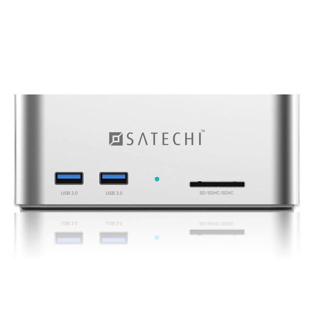 Док-станция Satechi Aluminum USB 3.0 SATA III HDD / SSD Docking Station серебристаяХабы - разветвители USB<br>Satechi Aluminum Docking Station позволит быстро и эффективно передавать данные.<br><br>Цвет товара: Серебристый<br>Материал: Алюминий