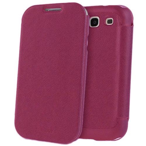 Чехол Mercury Fancy Diary FlipStyle для Samsung Galaxy S3 Ярко-розовыйЧехлы для Samsung Galaxy<br>С Mercury Fancy Diary FlipStyle вашему смартфону не страшны неприятности!<br><br>Цвет товара: Розовый<br>Материал: Пластик, кожа