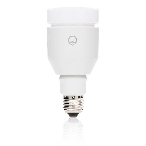 Умная светодиодная лампа LIFX (E27) для iPhone / iPod Touch / iPad / Android БелаяУмные лампы<br>Умная лампочка LIFX Pearl White (E27)<br><br>Цвет товара: Белый<br>Материал: Металл, стекло