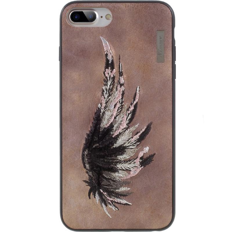Чехол Nimmy Fantasy Denim для iPhone 7 Plus / 8 Plus (Крыло) розовыйЧехлы для iPhone 7 Plus<br>Чехлы Nimmy Fantasy Denim (стиль 13) — это тандем стиля и качества.<br><br>Цвет: Розовый<br>Материал: Пластик, силикон, текстиль
