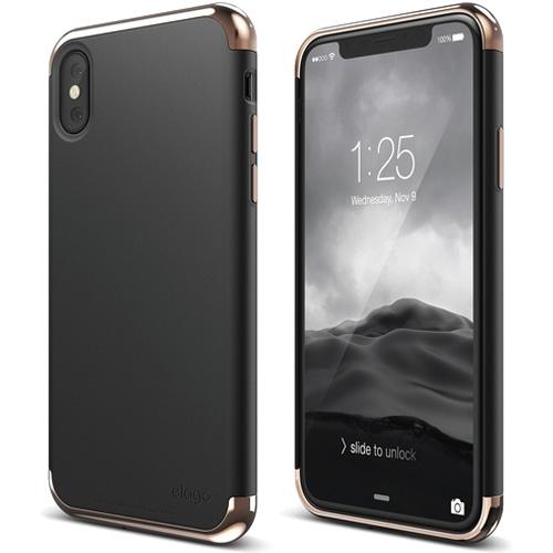 Чехол Elago Empire для iPhone X розовое золото/чёрныйЧехлы для iPhone X<br>Elago Empire — привлекательный дизайн и абсолютная защита для вашего iPhone X!<br><br>Цвет: Чёрный<br>Материал: Поликарбонат
