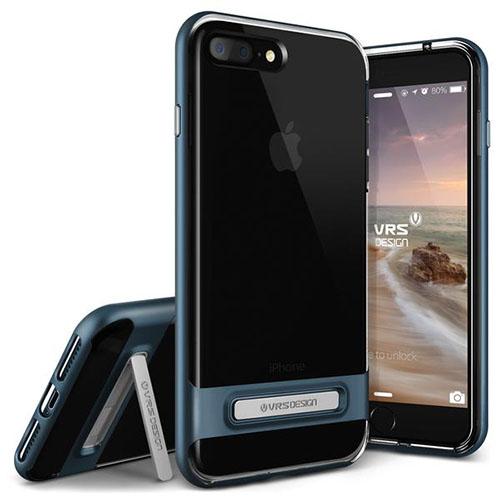 Чехол Verus Crystal Bumper для iPhone 7 Plus (Айфон 7 Плюс) синий (VRIP7P-CRBBB)Чехлы для iPhone 7 Plus<br>Чехол Verus для iPhone 7 Plus Crystal Bumper, стальной голубой (904635)<br><br>Цвет товара: Синий<br>Материал: Поликарбонат, полиуретан