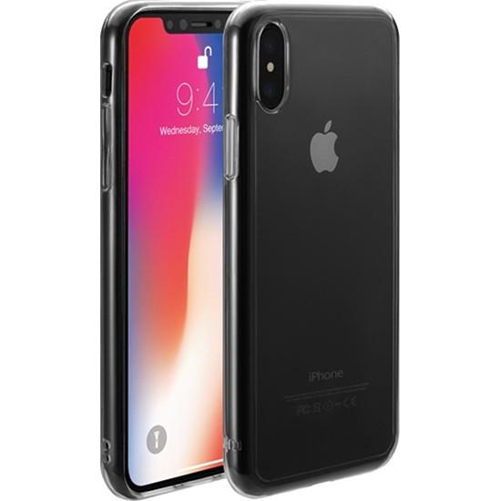 Чехол Just Mobile TENC для iPhone X прозрачныйЧехлы для iPhone X<br>Чехол Just Mobile TENC обладает способностью к «регенерации» — самовосстановлению поверхности.<br><br>Цвет товара: Прозрачный<br>Материал: Поликарбонат, термопластичный полиуретан