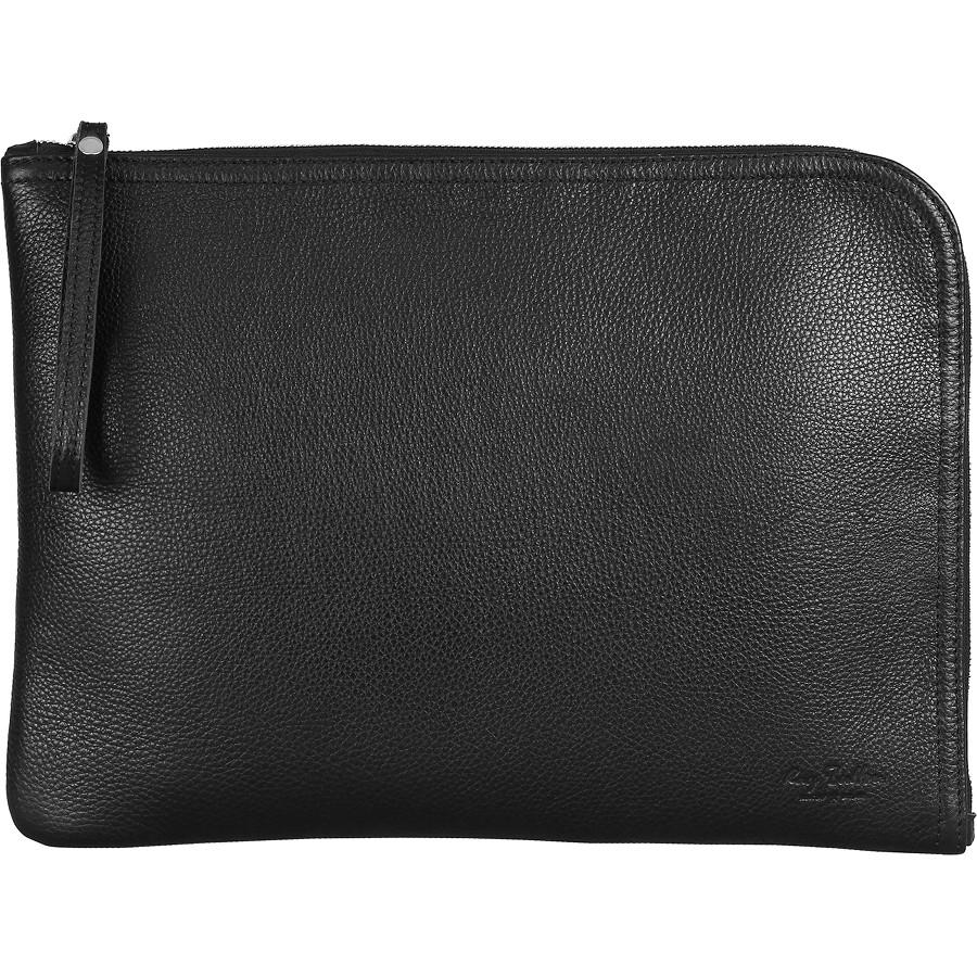 Чехол-папка Ray Button Barcelona для MacBook 13 Black Grain (151C11S13)Чехлы для MacBook Air 13<br>Чехол-папка Barcelona — это уникальный авторский дизайн.<br><br>Цвет товара: Чёрный<br>Материал: Натуральная кожа КРС, износостойкая ткань, металлическая молния YKK