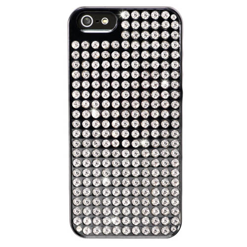 Чехол Bling My Thing Extravaganza Black Metallic Crystal для iPhone 5/5S/SE чёрный
