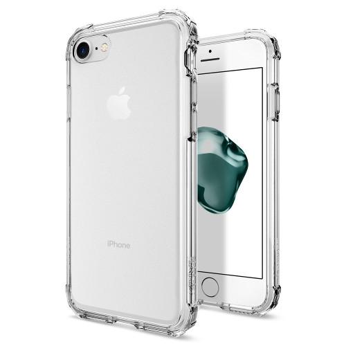 Чехол Spigen Crystal Shell для iPhone 7 (Айфон 7) кристально-прозрачный (SGP-042CS20306)Чехлы для iPhone 7<br>Сочетание поликарбоната и полиуретана придают чехлу Crystal Shell превосходные защитные и амортизирующие свойства.<br><br>Цвет товара: Прозрачный<br>Материал: Термопластичный полиуретан TPU