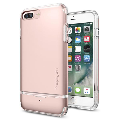 Чехол Spigen Flip Armor для iPhone 7 /8 Plus (Айфон 8 Плюс) розовое золото (SGP-043CS20821)Чехлы для iPhone 7 Plus<br>Чехол Spigen для iPhone 7 Plus Flip Armor розовое золото (043CS20821)<br><br>Цвет товара: Розовое золото<br>Материал: Поликарбонат, полиуретан
