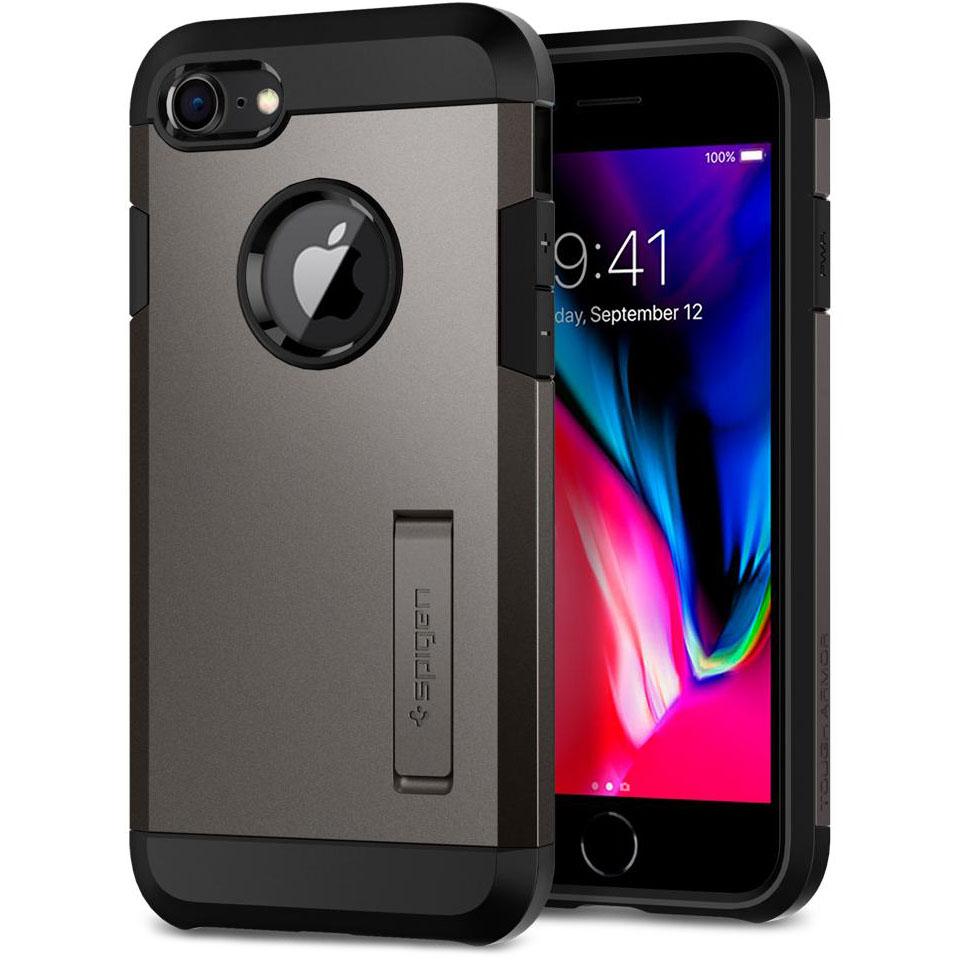 Чехол Spigen Tough Armor 2 для iPhone 8, iPhone 7 стальной (054CS22214)Чехлы для iPhone 7<br>Spigen Tough Armor 2 — самый надёжный и прочный чехол среди серии Armor.<br><br>Цвет товара: Серый<br>Материал: Поликарбонат, полиуретан