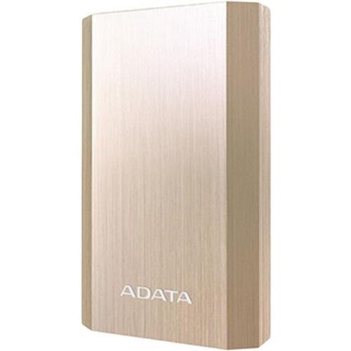 Внешний аккумулятор ADATA A10050 PowerBank 10050 mAh золотойДополнительные и внешние аккумуляторы<br>ADATA A10050 PowerBank — это мощный портативный аккумулятор с двумя USB-портами для безопасной и быстрой подзарядки ваших гаджетов!<br><br>Цвет товара: Золотой<br>Материал: Алюминий