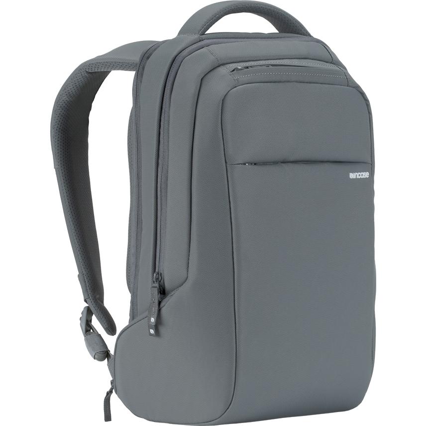 Рюкзак Incase ICON Slim Backpack серыйРюкзаки<br>Вместительный и компактный рюкзак для городских прогулок и ежедневных путешествий.<br><br>Цвет товара: Серый<br>Материал: 840D нейлон, искусственный мех (плюш)