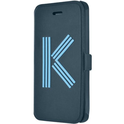 Чехол Kenzo Big K Folio для iPhone 5S/SE синийЧехлы для iPhone 5s/SE<br>Чехол KENZO для iPhone 5/5s Big K Folio Blue<br><br>Цвет товара: Синий<br>Материал: Полиуретановая кожа, пластик