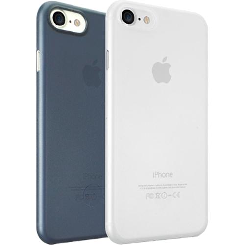 Набор чехлов Ozaki O!coat 0.3 Jelly 2 in 1 для iPhone 7 (Айфон 7) тёмно-синий+прозрачный