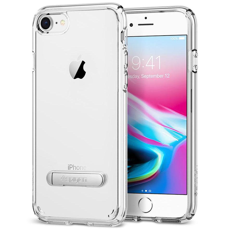 Чехол Spigen Ultra Hybrid S для iPhone 8, iPhone 7 кристально-прозрачный (054CS22213)Чехлы для iPhone 7<br>Spigen Ultra Hybrid S — один из самых тонких, надёжных и привлекательных чехлов!<br><br>Цвет товара: Прозрачный<br>Материал: Поликарбонат, полиуретан