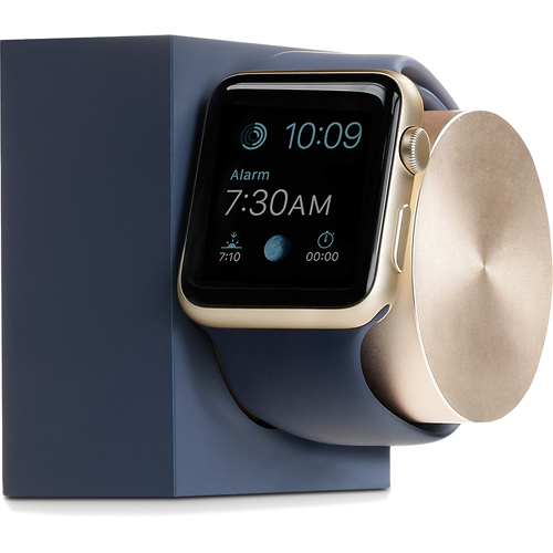 Док-станция Native Union Dock для Apple Watch тёмно-синий/золотойДокстанции Apple Watch<br>Native Union Dock отражает превосходный, продуманный и функциональный дизайн аксессуара для ваших Apple Watch.<br><br>Цвет товара: Синий<br>Материал: Cплав алюминия, пластик, силикон