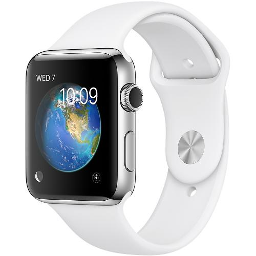 Часы Apple Watch Series 2 42 мм, нержавеющая сталь, спортивный ремешок белыйУмные часы<br>Часы Apple Watch Series 2 42 мм, нержавеющая сталь, спортивный ремешок белый<br><br>Цвет товара: Белый<br>Материал: Нержавеющая сталь 316L<br>Модификация: 42 мм