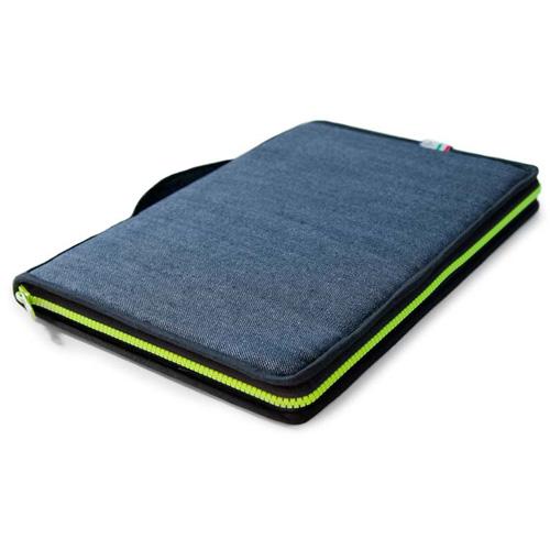 Сумка Vaveliero для Macbook Pro 13 чёрная/жёлтаяСумки для ноутбуков<br>Сумка Vaveliero для Macbook Pro 13 изготовлена в Италии из высококачественных материалов.<br><br>Цвет товара: Чёрный<br>Материал: Ткань