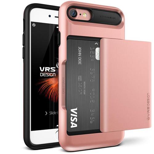 Чехол Verus Damda Glide для iPhone 7 (Айфон 7) розовое золото (VRIP7-DGLRG)Чехлы для iPhone 7<br>Чехол Verus для iPhone 7  Damda Glide, розовое золото (904610)<br><br>Цвет товара: Розовое золото<br>Материал: Поликарбонат