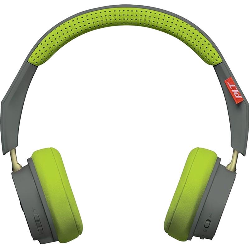 Наушники Plantronics BackBeat 500 серый/зелёныйНакладные наушники<br>Ощутите истинное звучание музыки с наушниками Plantronics BackBeat 500.<br><br>Цвет товара: Серый<br>Материал: Пластик, полиуретан, поролон