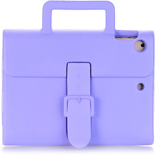 Чехол DoDo Briefcase Kids Shockproof для iPad Air / iPad Air 2 / iPad (2017) сиреневыйЧехлы для iPad Air<br><br><br>Цвет товара: Фиолетовый<br>Материал: Силикон