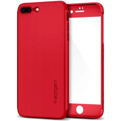 Чехол Spigen Thin Fit 360 для iPhone 7 Plus (Айфон 7 Plus) красный (SGP-043CS21731)Чехлы для iPhone 7 Plus<br>Ультратонкий и невероятно лёгкий, словно пёрышко, чехол Spigen Thin Fit 360 для iPhone 7 Plus.<br><br>Цвет товара: Красный<br>Материал: Поликарбонат