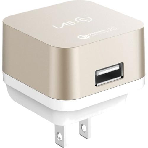 Сетевое зарядное устройство LAB.C X1 1-USB 2.4A золотоеСетевые зарядки<br>Сетевое з/у LAB.C X1 1-USB port 2.4A - золотистое<br><br>Цвет товара: Золотой<br>Материал: Пластик, металл