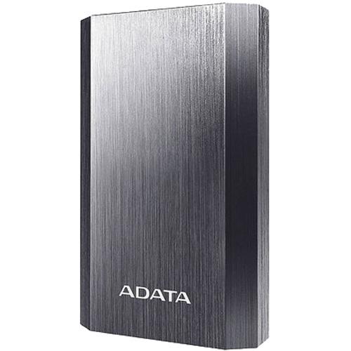 Внешний аккумулятор ADATA A10050 PowerBank 10050 mAh серый титанДополнительные и внешние аккумуляторы<br>ADATA A10050 PowerBank — это мощный портативный аккумулятор с двумя USB-портами для безопасной и быстрой подзарядки ваших гаджетов!<br><br>Цвет товара: Серый<br>Материал: Алюминий