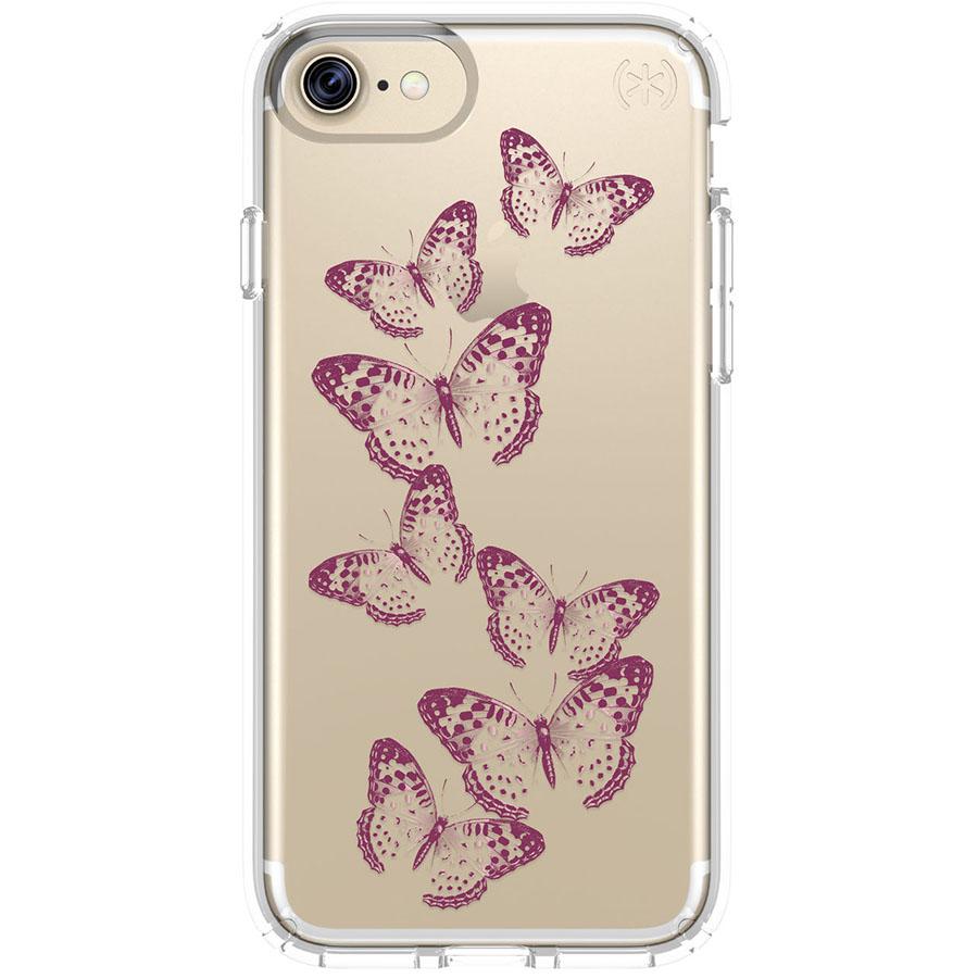 Чехол Speck Presidio Clear + Print для iPhone 7 (Айфон 7) золотистый/прозрачныйЧехлы для iPhone 7<br>Чехол Speck Almond Presidio Clear + Print для iPhone 7 - золотой/прозрачный<br><br>Цвет товара: Золотой<br>Материал: Поликарбонат