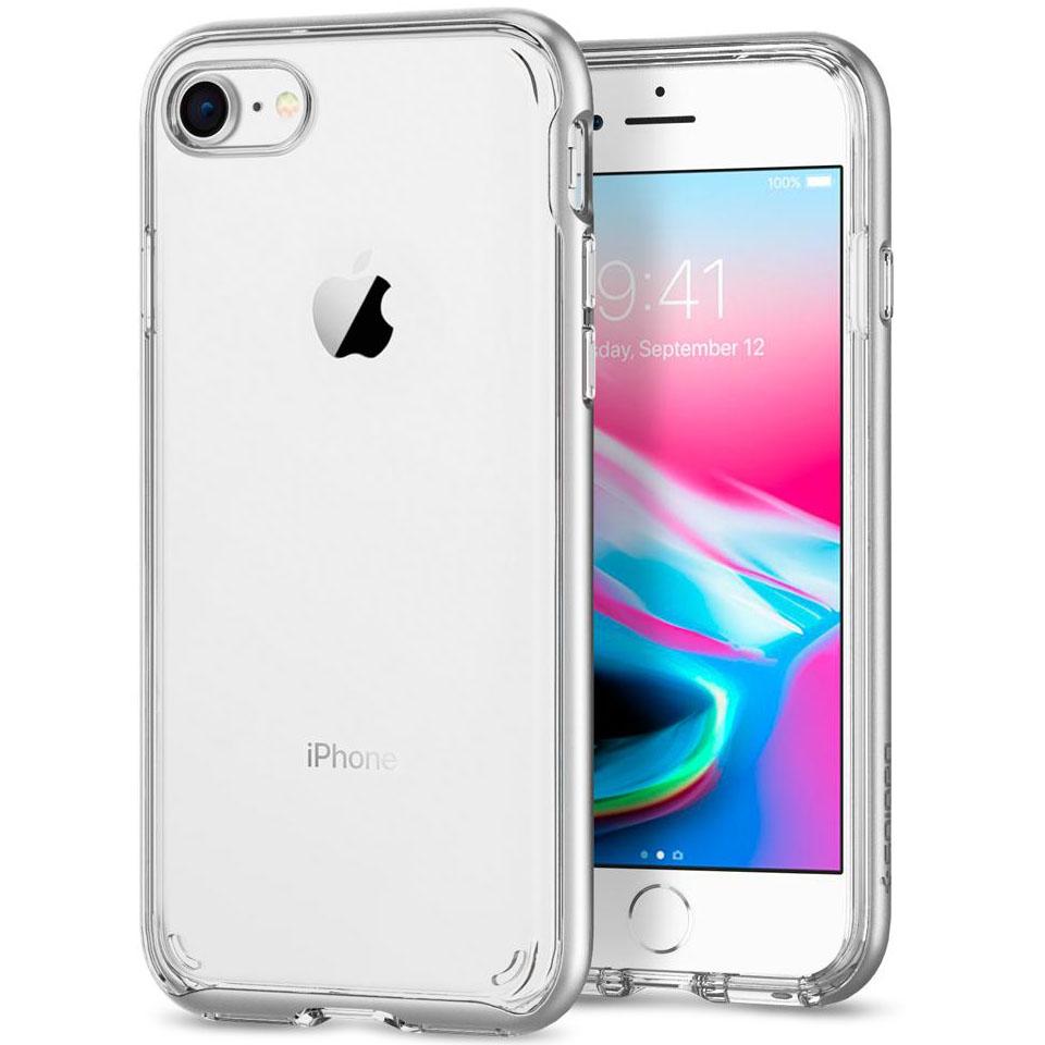 Чехол Spigen Neo Hybrid Crystal 2 для iPhone 7, iPhone 8 серебристый (054CS22365)Чехлы для iPhone 7<br>Spigen Neo Hybrid Crystal 2 — идеальный чехол для вашего iPhone 8!<br><br>Цвет товара: Серебристый<br>Материал: Поликарбонат, полиуретан