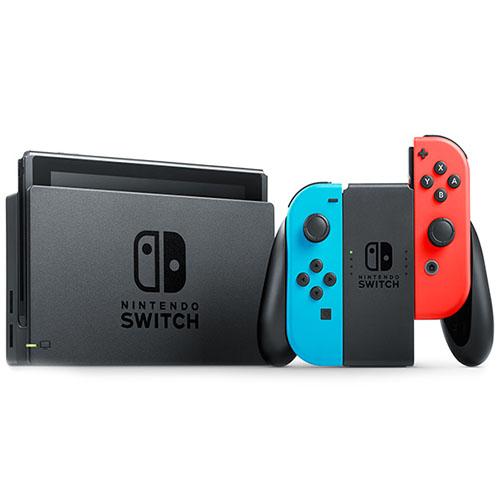 Игровая приставка Nintendo Switch неоновая красная/неоновая синяяNintendo Switch и игры<br>Nintendo Switch – мобильная игровая консоль с возможностью трансформации!<br><br>Цвет товара: Разноцветный<br>Материал: Пластик, металл
