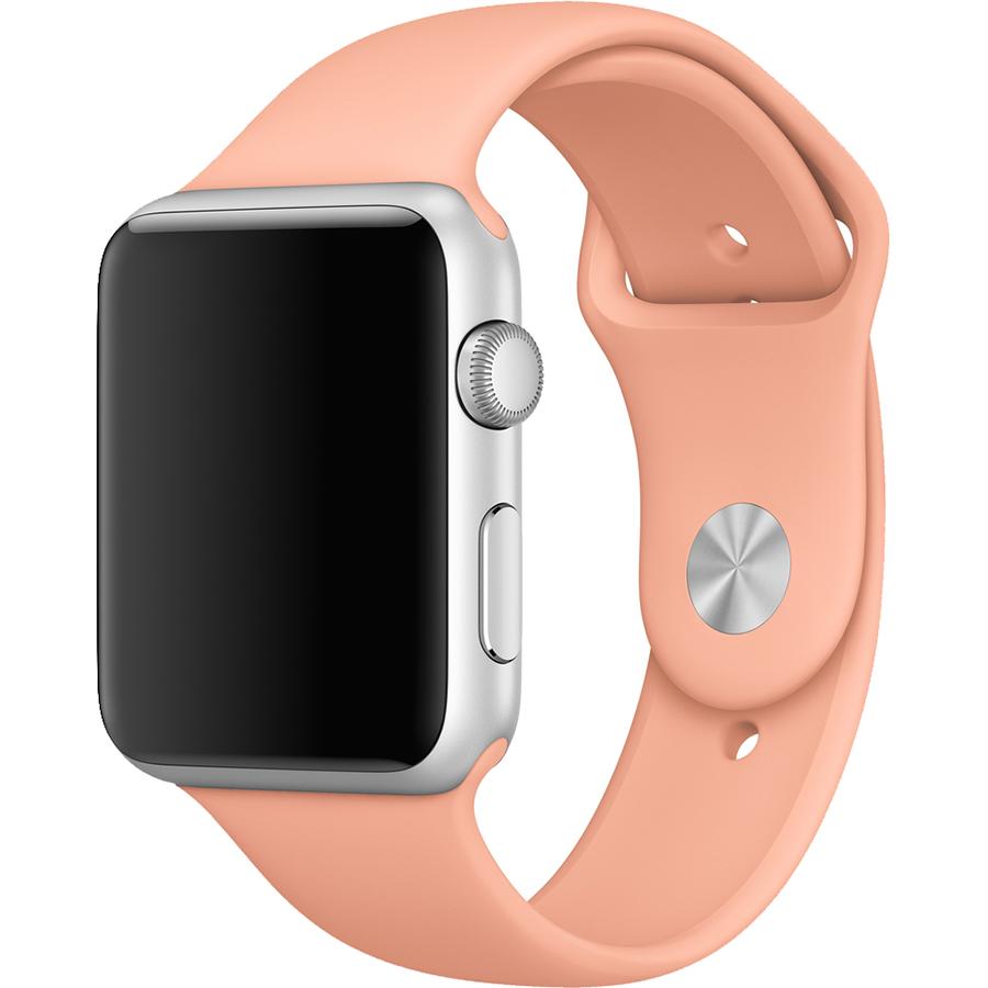 Спортивный ремешок Apple Sport Band для Apple Watch 42 мм розовый FlamingoРемешки для Apple Watch<br>Ремешок позволит вам не расставаться с вашими умными часами как во время зарядки, так и самых серьезных силовых нагрузок.<br><br>Цвет: Розовый<br>Материал: Силикон