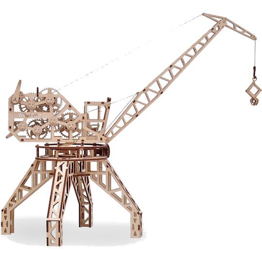 3D-конструктор из дерева Wood Trick Кран3D пазлы и конструкторы<br>Сувениры Wood Trick — это механические 3D-модели, которые собираются без клея и понятны даже ребенку.<br><br>Цвет товара: Бежевый<br>Материал: Натуральное дерево (фанера)