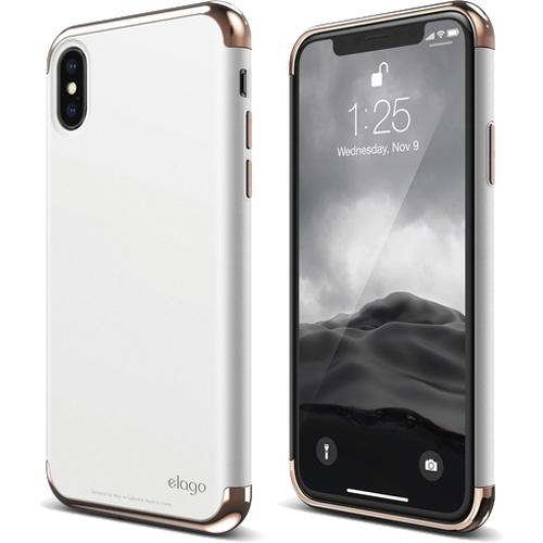 Чехол Elago Empire для iPhone X розовое золото/белыйЧехлы для iPhone X<br>Elago Empire — привлекательный дизайн и абсолютная защита для вашего iPhone X!<br><br>Цвет: Белый<br>Материал: Поликарбонат