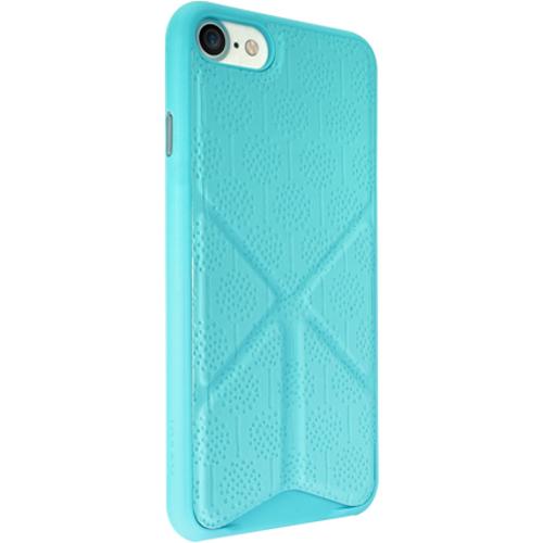 Чехол Ozaki O!coat 0.3+Totem Versatile для iPhone 7 (Айфон 7) голубойЧехлы для iPhone 7<br>Чехол Ozaki Jelly 0.3 + Totem Versalite для iPhone 7 - голубой<br><br>Цвет товара: Голубой<br>Материал: Поликарбонат, полиуретановая кожа