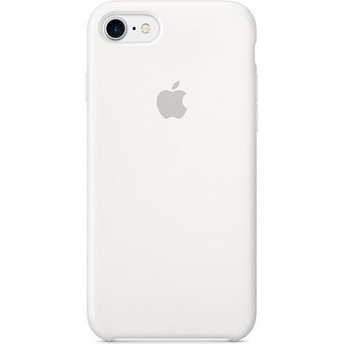 Силиконовый чехол Apple Silicone Case для iPhone 8/7 белыйЧехлы для iPhone 7<br>Ни один чехол в мире не сочетается с мощным Айфон 7 и Айфон 8 лучше, чем оригинальный Apple Case.<br><br>Цвет товара: Белый<br>Материал: Силикон